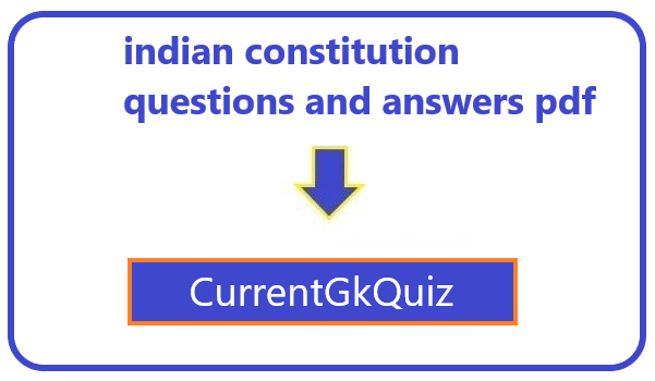 indian constitution questions and answers pdf