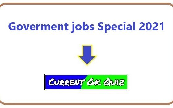 Goverment jobs Special 2021