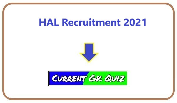 HAL Recruitment 2021