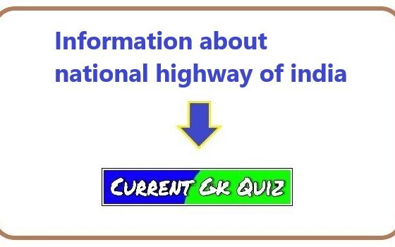 Information about national highway of india