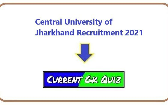 Central University of Jharkhand Recruitment 2021