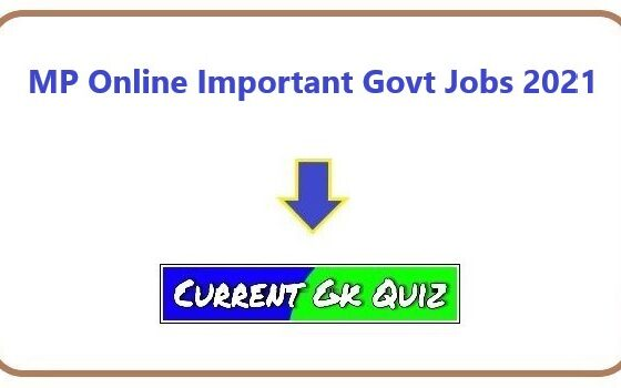 MP Online Important Govt Jobs 2021