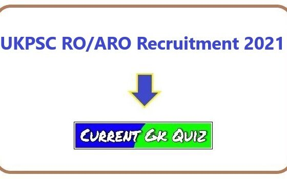 UKPSC RO/ARO Recruitment 2021