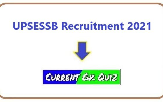 UPSESSB Recruitment 2021