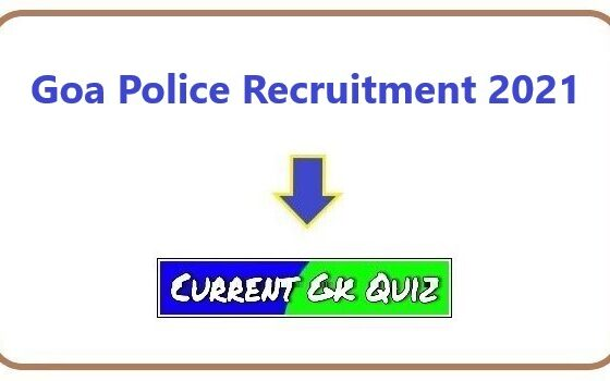 Goa Police Recruitment 2021