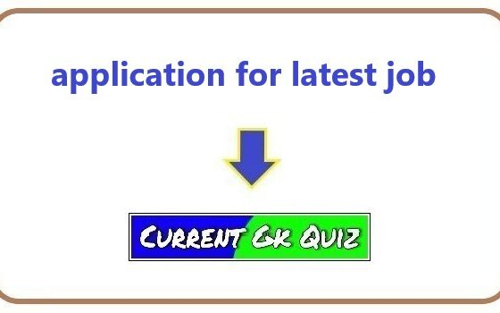 application for latest job