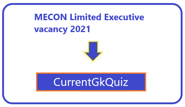 MECON Limited Executive