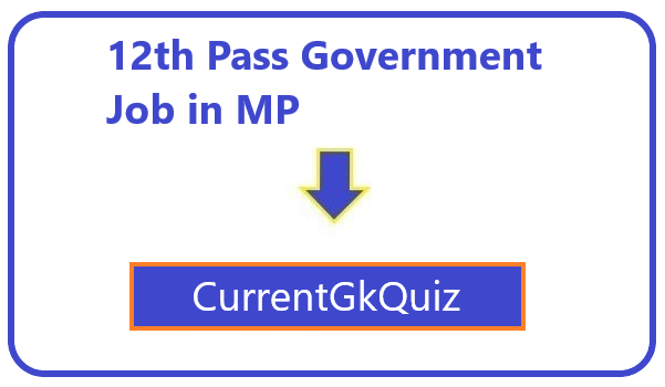 12th Pass Government Job in MP
