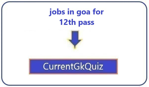 jobs in goa for 12th pass